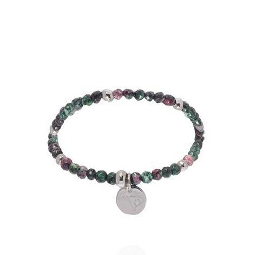 Romancing the stones bracelet - Emeral/White Gold