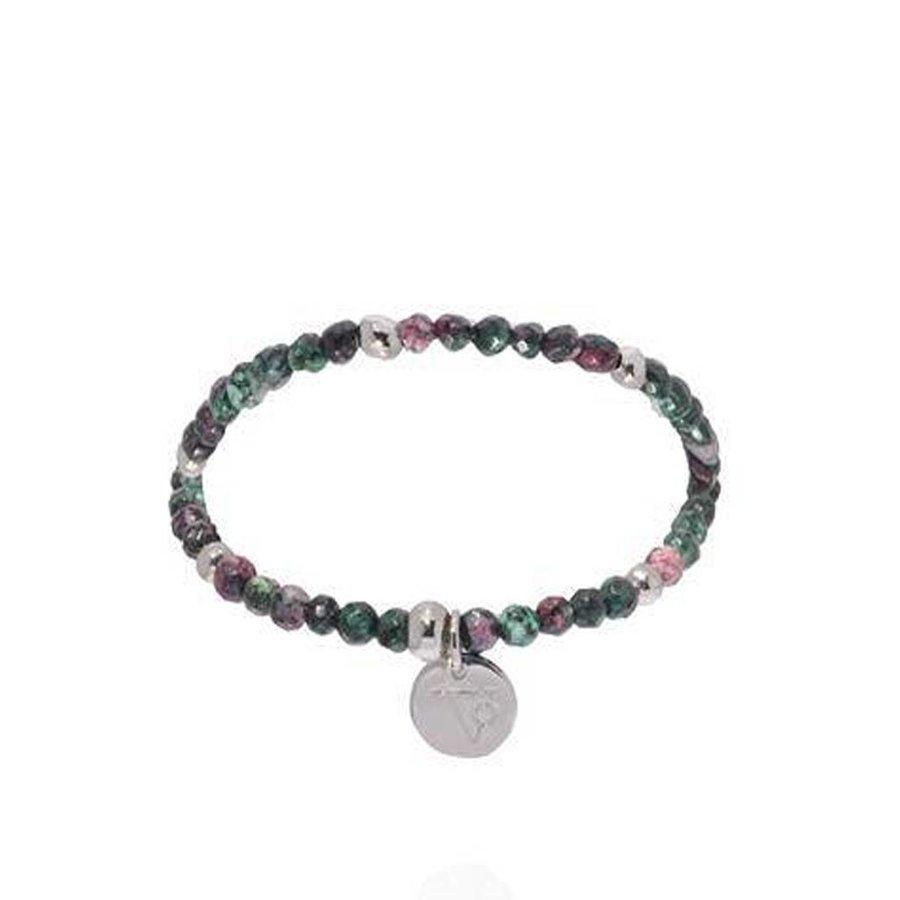 Romancing the stones bracelet - Emerald/White Gold