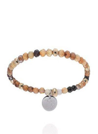 Romancing the stones bracelet - Brown/White Gold