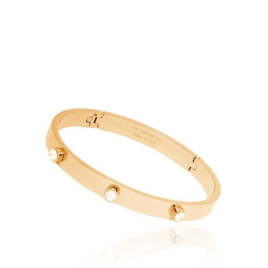 Fine stone bangle - Gold/Golden shadow
