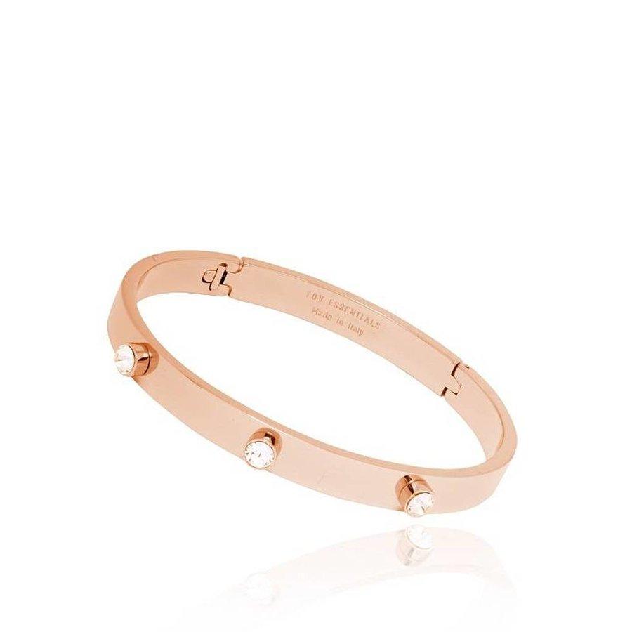 Fine stone bangle - Rose/Golden - Armband