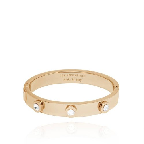 Stone bangle - Light Gold/Crystal