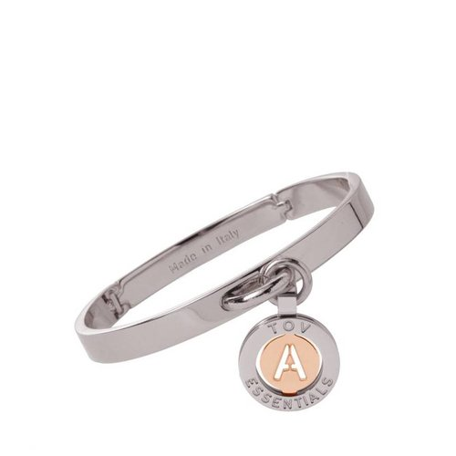 Iniziali bangle 2.0 - Wit Goud/Rose - Letter A