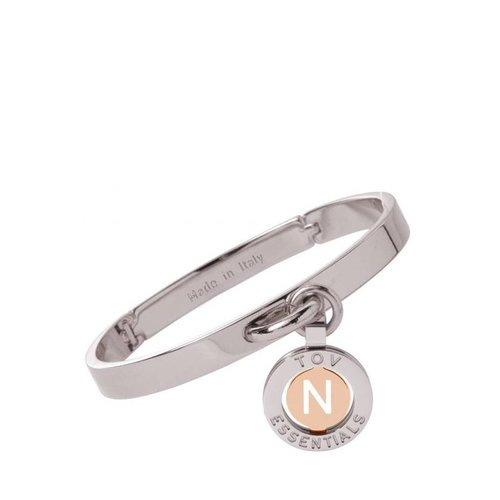 Iniziali bangle 2.0 - White Gold/Rose - Letter N