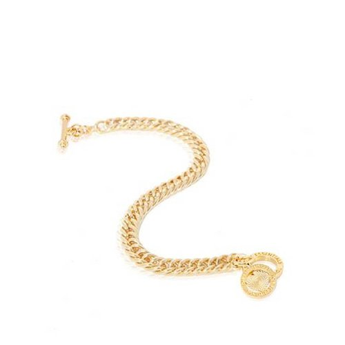 Ini mini mermaid armband - Goud - hart