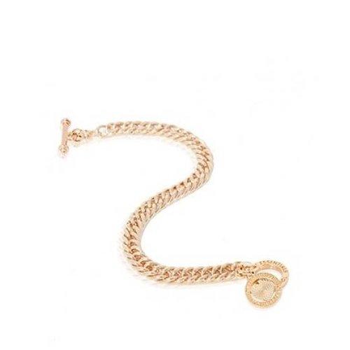 Ini mini mermaid medaillon bracelet - white gold - heart