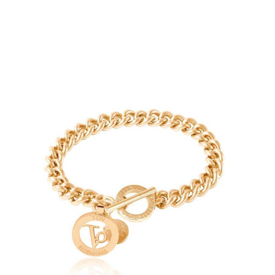 Ini mini solochain armband - Goud
