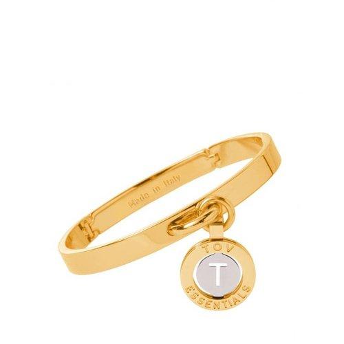 Iniziali bangle 2.0 - Gold/White Gold - Letter T