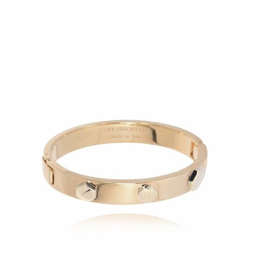 TOV rivets bangle - champagne goud