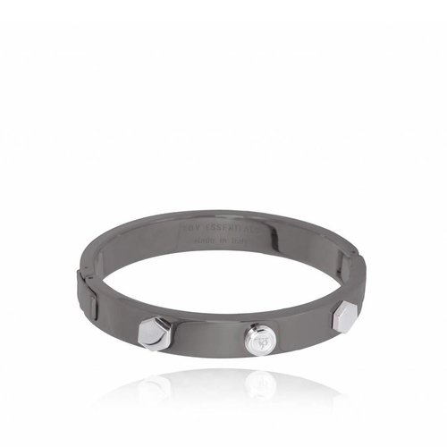 TOV rivets bangle (Armband) - gun metal