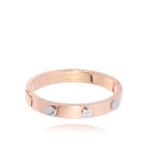 TOV rivets bangle - Rose/Wit Goud