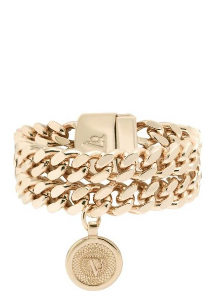 Double chain armband - Champagne Goud