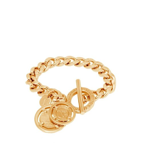 Mini flat chain bracelet - Gold