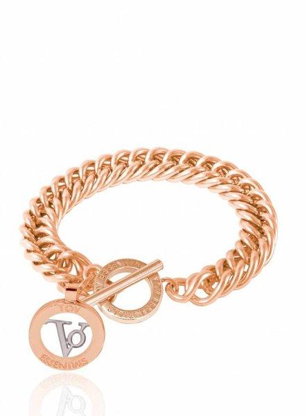Mini mermaid armband - Rose - wit goud