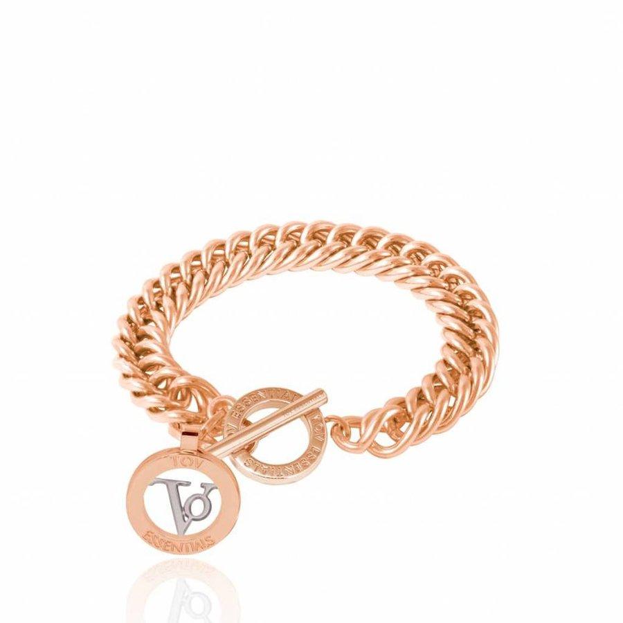 Mini mermaid bracelet - Rose - white gold