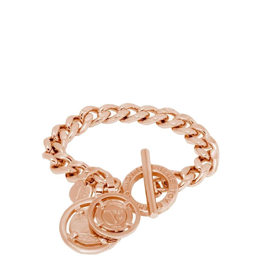 Mini flat chain armband - Rose