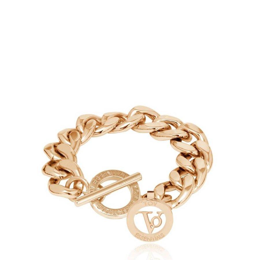 Small flat chain bracelet- Light Gold