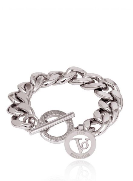 Small flat chain armband - Wit Goud