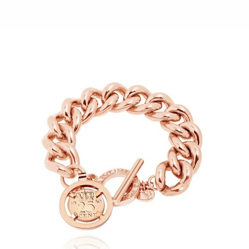Small solochain bracelet - Rose