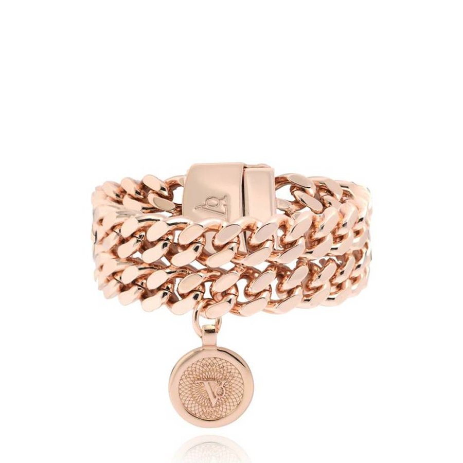 Double chain armband - Rose