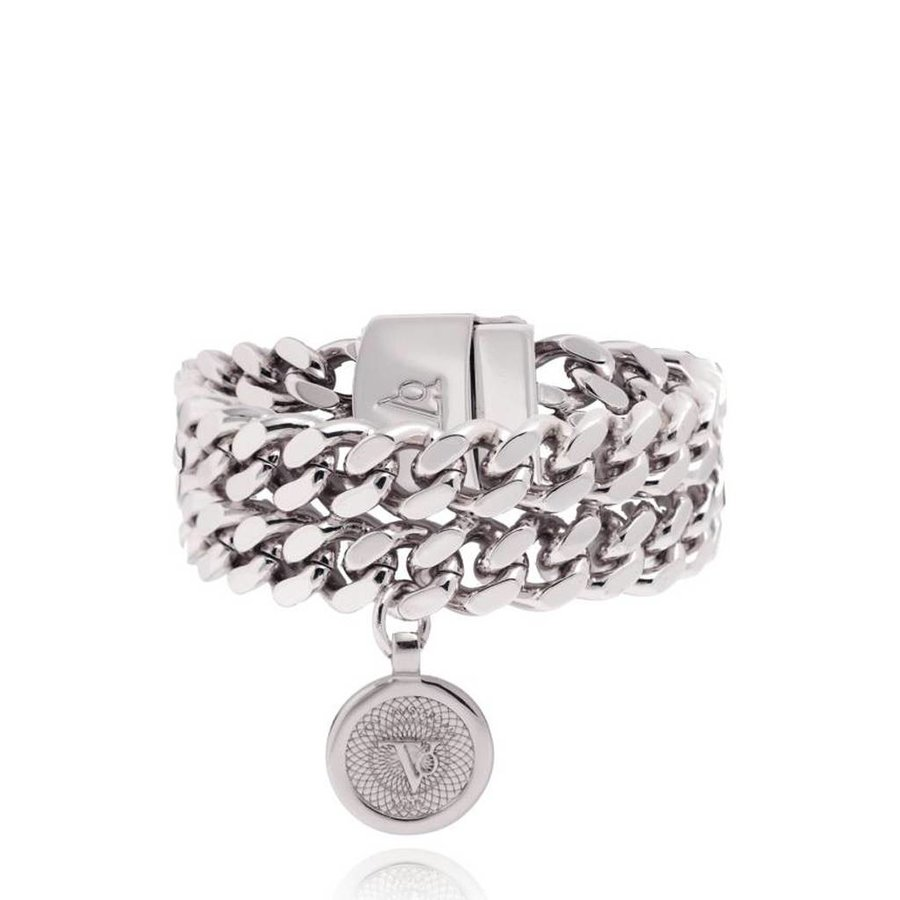 Double chain bracelet - White Gold