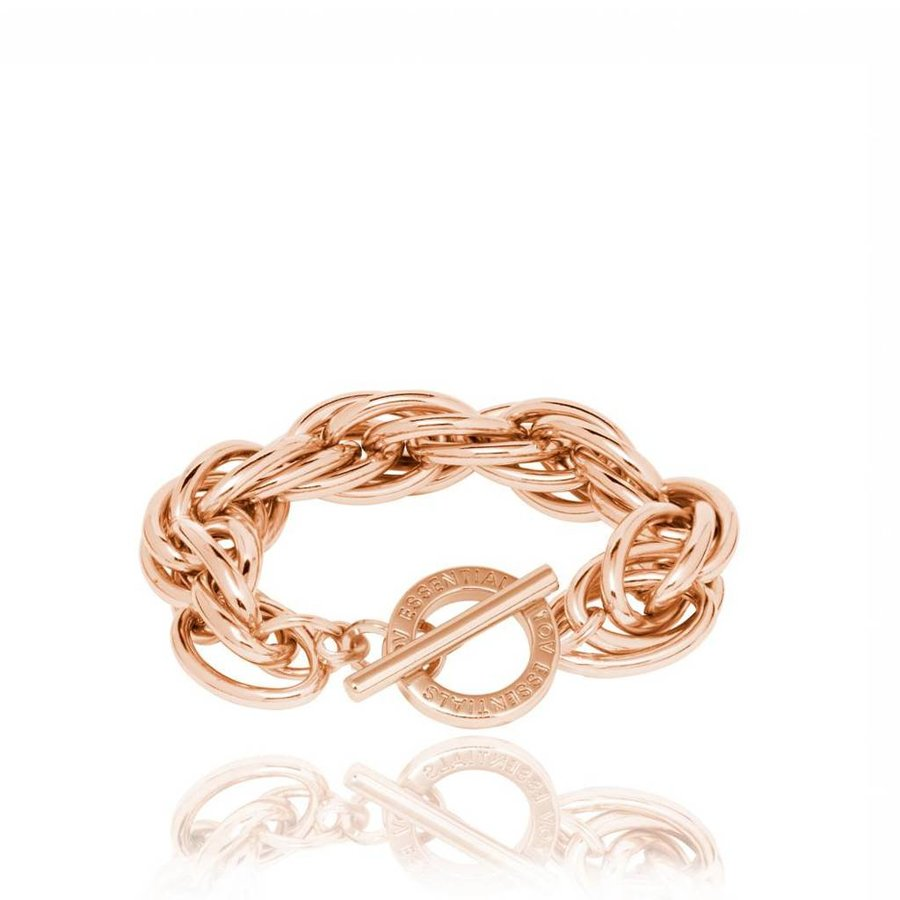 Twisted chain armband - Rose