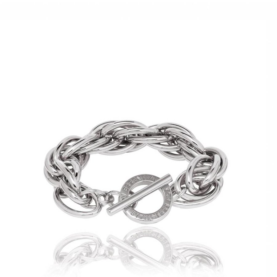 Twisted chain armband - Wit Goud