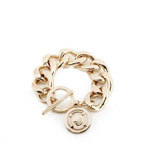 Flat gourmet bracelet - Light Gold