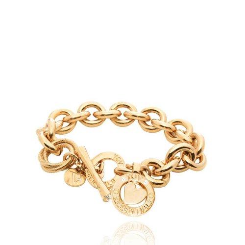 Round gourmet bracelet - Gold/Heart