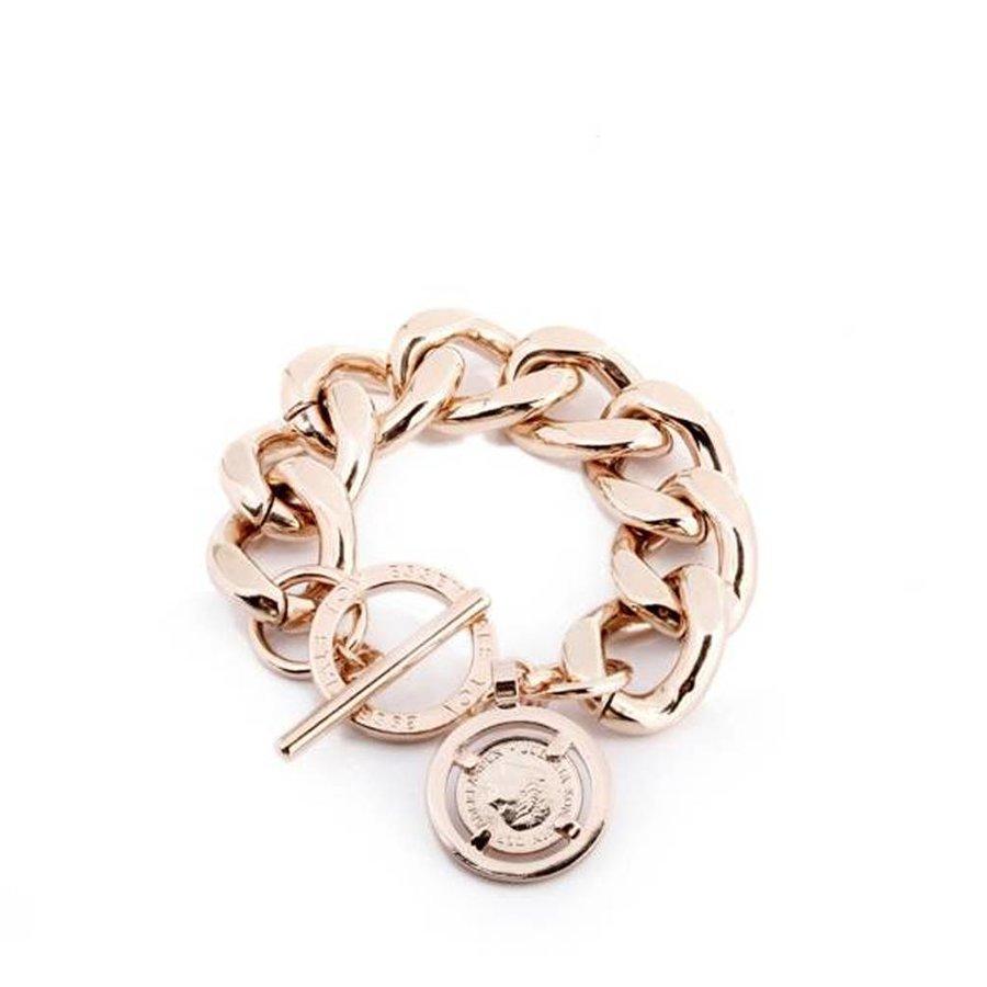 Flat gourmet bracelet - Rose