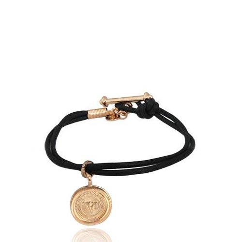 Dutch 10ct coin & cord bracelet