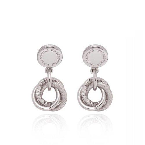Trinity stud earring - White Gold