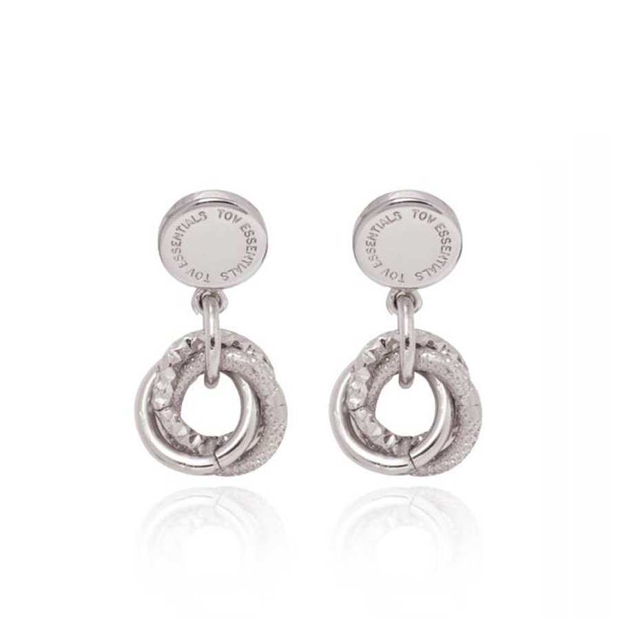 Trinity stud earring - White Gold