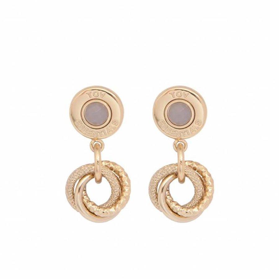 3 rings - agate - earring