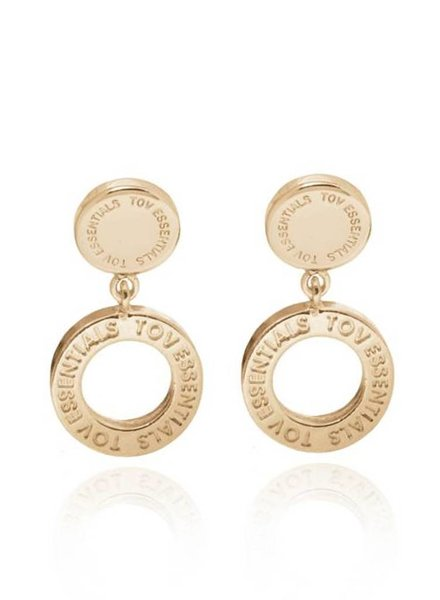 1 position earring - Light Gold