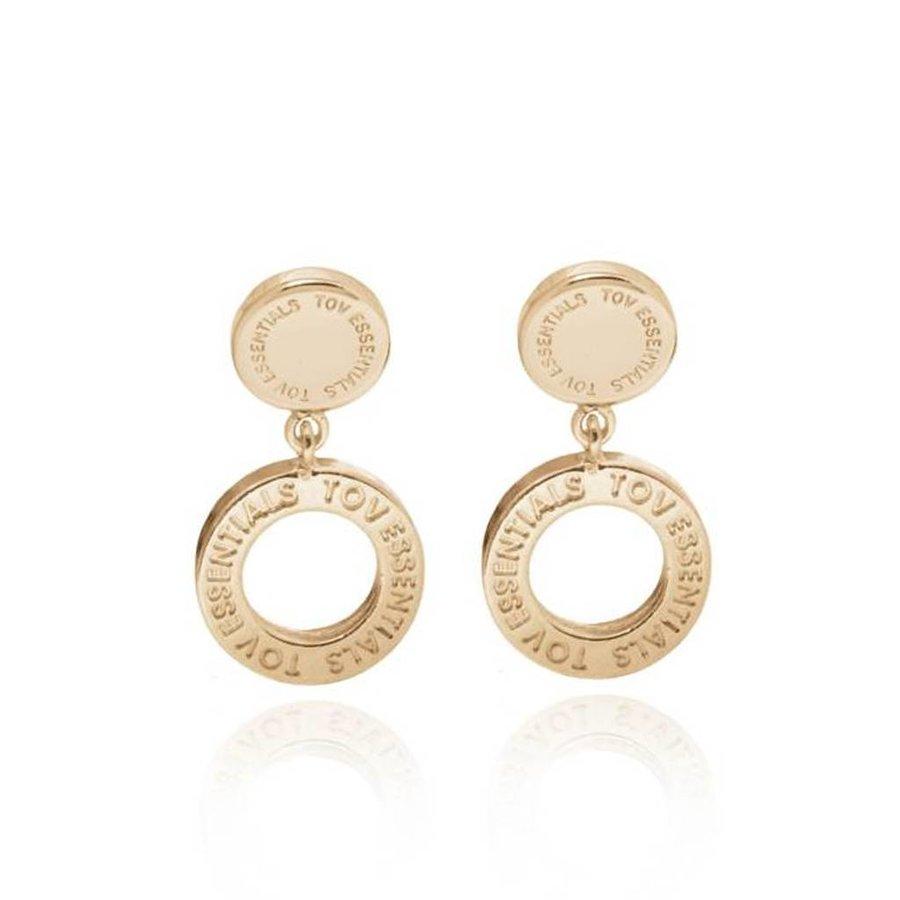 1 position earring - Light Gold