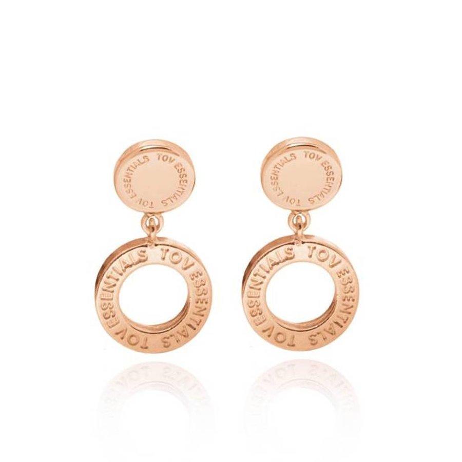 1 position earring - Rose