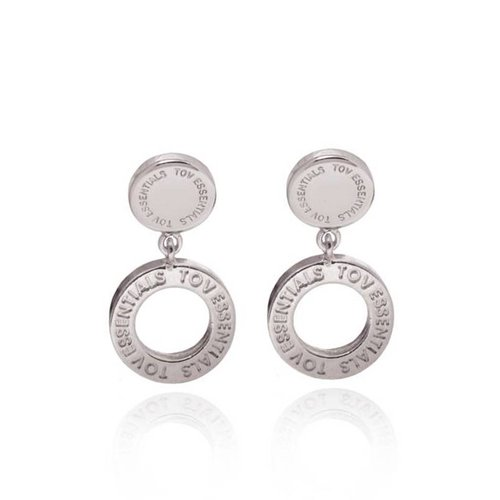 1 position earring - White Gold