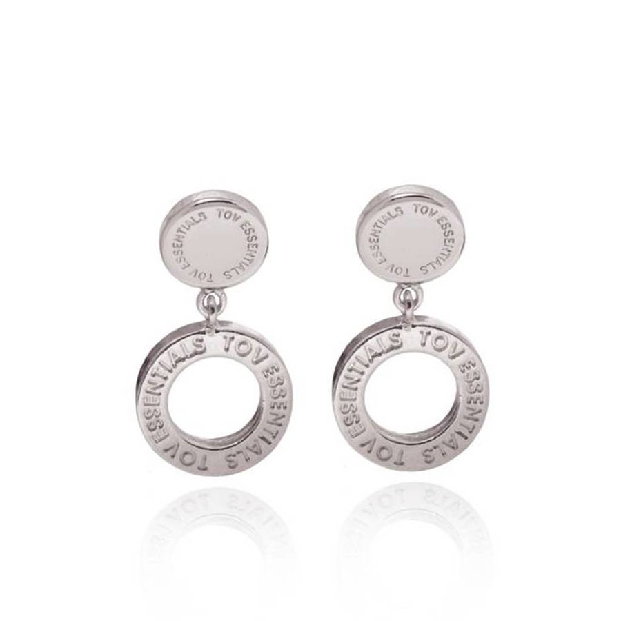 1 position earring - White Gold