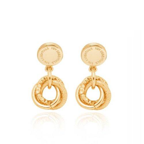 stud earring - Gold