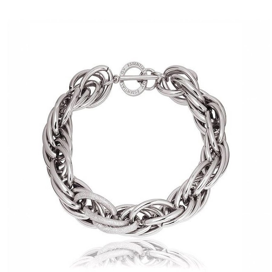 Twisted chain collier - White Gold