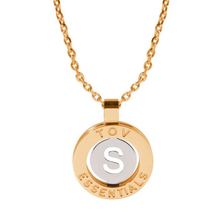 Iniziali necklace 2.0 - Gold/White Gold - Letter S