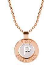 Iniziali necklace 2.0 - Rose/White Gold - Letter P