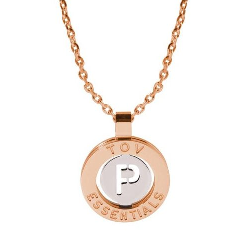 Iniziali necklace 2.0 - Rose/White Gold - Letter P