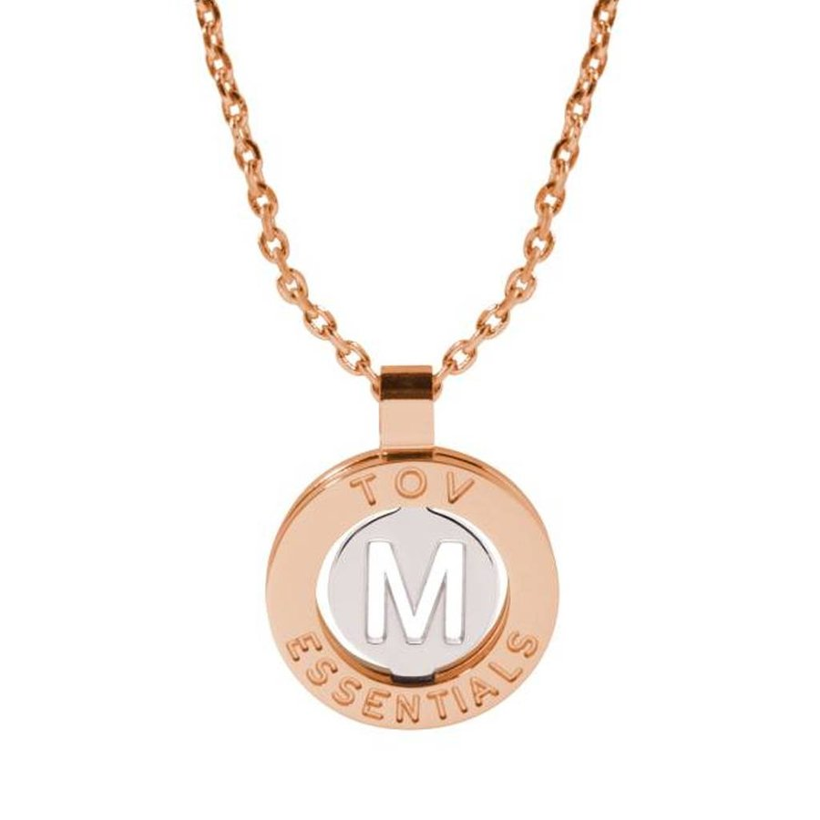 Iniziali necklace 2.0 - Rose/White Gold - Letter M