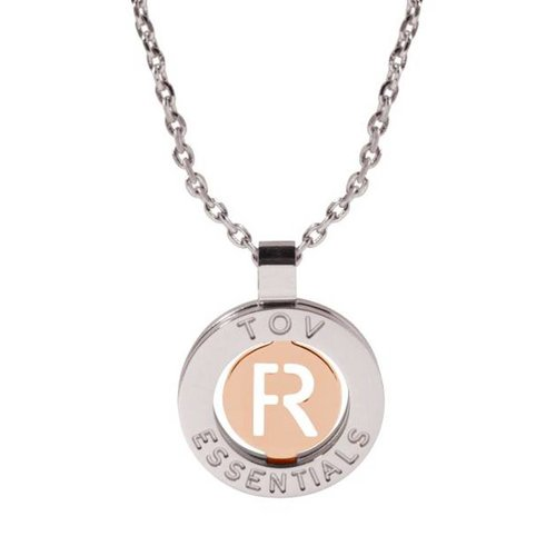 Iniziali necklace 2.0 - White Gold/Rose - Letter R