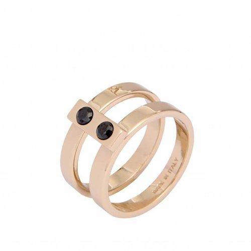 2 row onyx ring