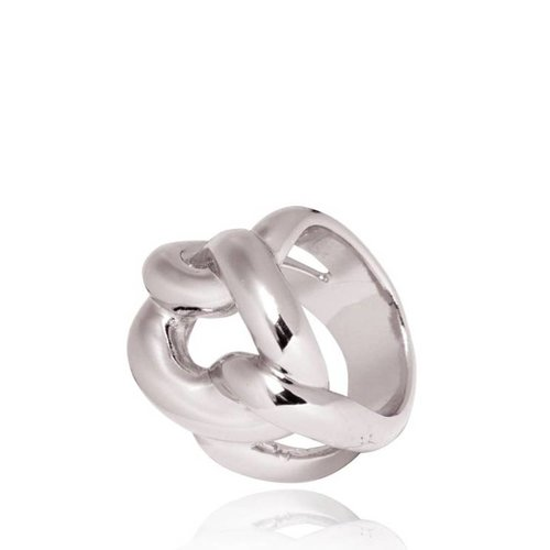 Plain Gourmet ring - Wit Goud