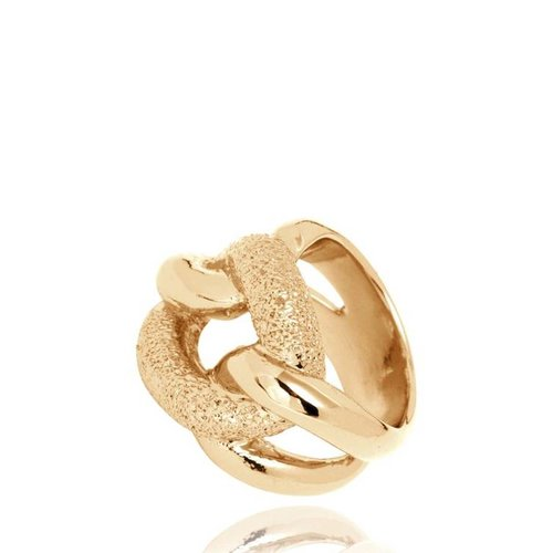 Diamond Effect Gourmet ring - Gold