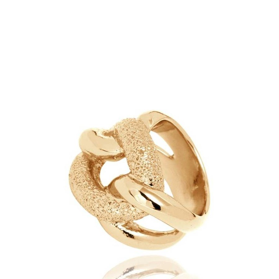 Diamond Effect Gourmet ring - Goud